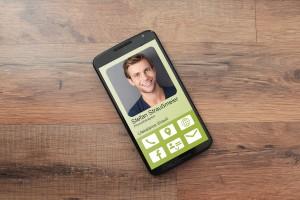 Online moderne Visitenkarte Smartsite