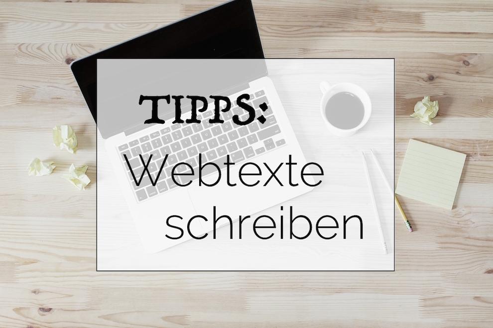 Tipps Webtexte schreiben