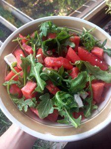 Rezept Wassermelone Rucola Feta Salat
